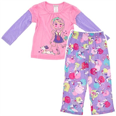 Purple Dog Pajamas for Girls