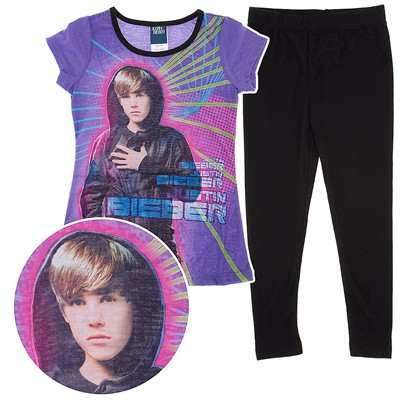 Justin Bieber Purple Pajamas for Girls