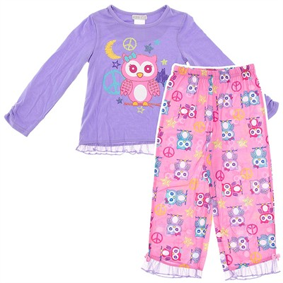 Purple Owl Pajamas for Girls