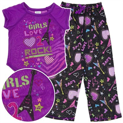 Girls Love 2 Rock Pajamas for Girls
