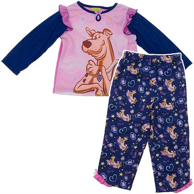 Scooby Doo Navy and Pink Pajamas for Girls
