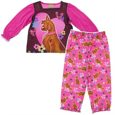 Scooby Doo Heart Pajamas for Toddlers and Girls