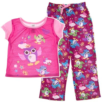 Pink Owl Pajamas for Girls