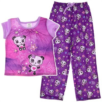 Purple Panda Pajamas for Girls