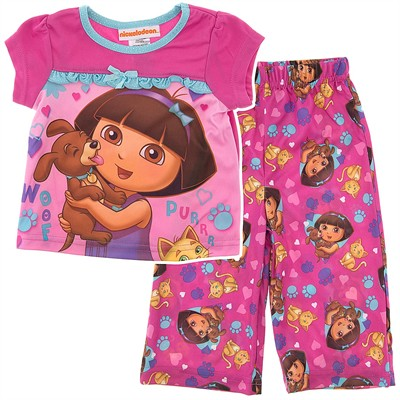 Dora Pink Pajamas for Infant Girls