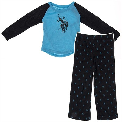 US Polo Association Turquoise Pajamas for Girls