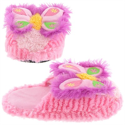 Butterfly Pink Slippers for Toddler Girls