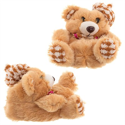 Brown Teddy Bear Slippers for Girls