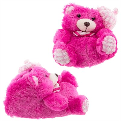 Pink Teddy Bear Slippers for Girls