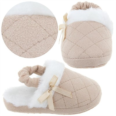 Beige Toddler Slippers for Girls