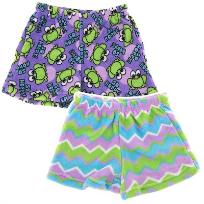 Fancy Girlz Frog Zig Two Plush Pajama Shorts for Girls