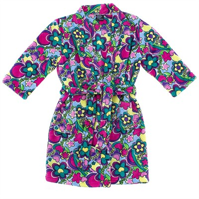 Girls Rule Floral Plush Bath Robe for Girls