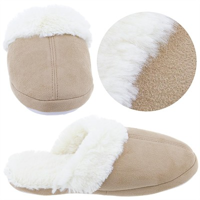 Goldtoe Tan Slippers for Women