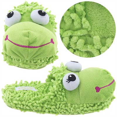Green Frog Animal Slippers for Women