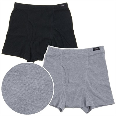 Hanes Black and Gray Boxer Briefs for Boys