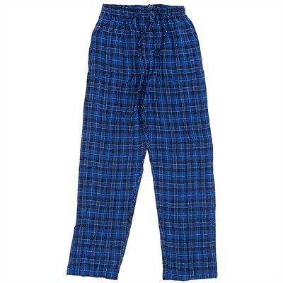 Hanes Blue and Navy Plaid Flannel Pajama Pants for Men