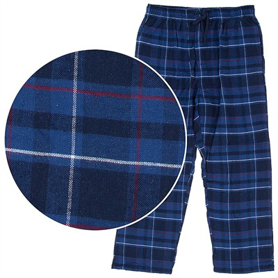 Hanes Blue Plaid Flannel Pajama Pants for Men