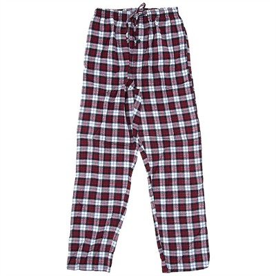 Hanes Red and White Plaid Flannel Pajama Pants for Men
