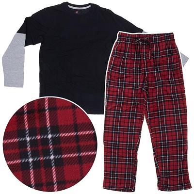 Hanes Red Fleece Pajama Set for Men