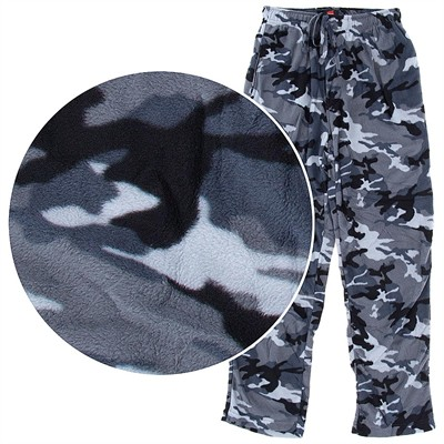 Hanes Gray Camo Fleece Pajama Pants for Men