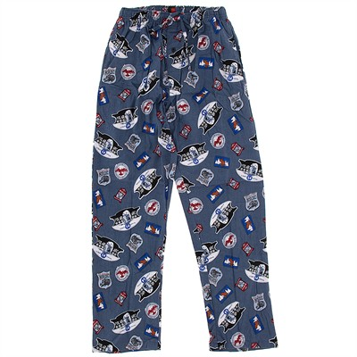 Hanes Gray Outdoor Print Pajama Pants for Men