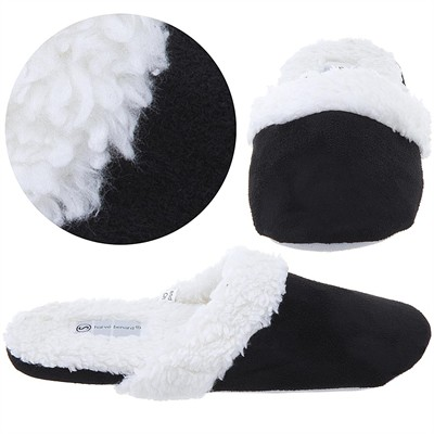 Harve Benard Black Slip On Slippers for Women