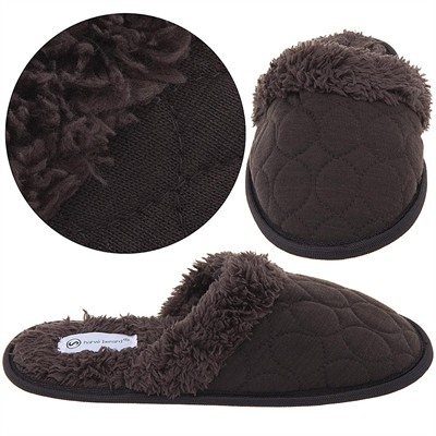 Harve Benard Brown Slip On Slippers for Women