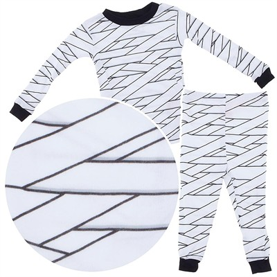Halloween White Mummy Cotton Pajamas for Infant Boys