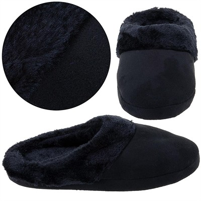 Harve Benard Black Clog Slippers for Women