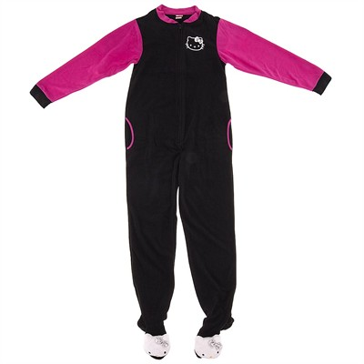 Hello Kitty Black Footed Pajamas for Women