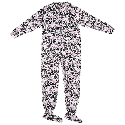 Hello Kitty Black and White Footie Pajamas