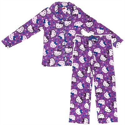 Hello Kitty Purple Fleece Pajamas for Juniors