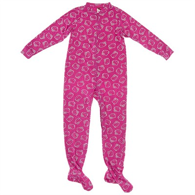 Hello Kitty Pink Glow Hooded Footed Pajamas