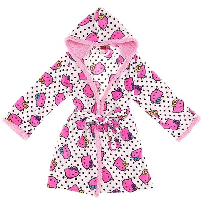 Hello Kitty Pink Hooded Bath Robe for Women