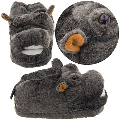 Hippo Animal Slippers for Women