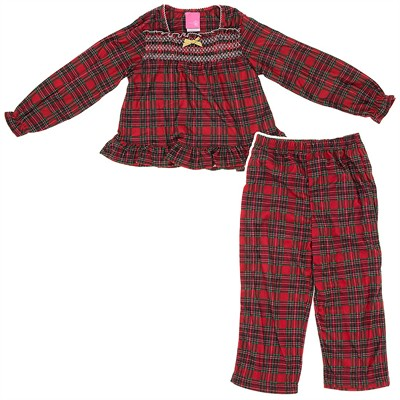 Red Plaid Holiday Pajamas for Girls