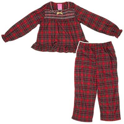 Red Plaid Holiday Pajamas for Girls