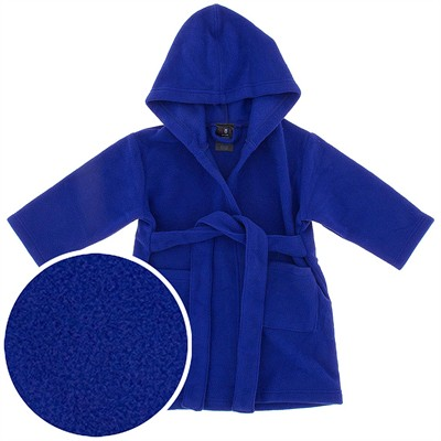 Hooded Blue Fleece Robe for Infant and Toddler Boys