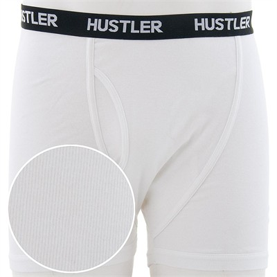 Hustler White Boxer Briefs for Men