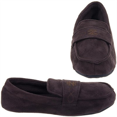 Izod Brown Moccasin Slippers for Men