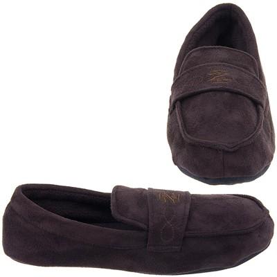 Izod Brown Moccasin Slippers for Men