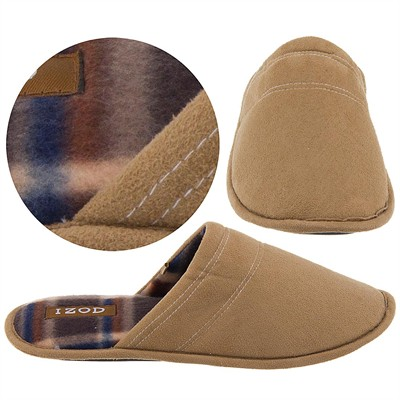 Izod Tan Slip on Slippers for Men
