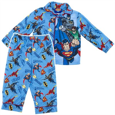 Justice League Coat-Style Pajamas for Boys