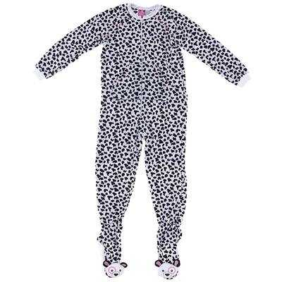 Dalmatian Footed Pajamas for Women