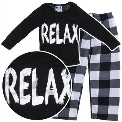 Katnap Relax Black Pajamas for Girls