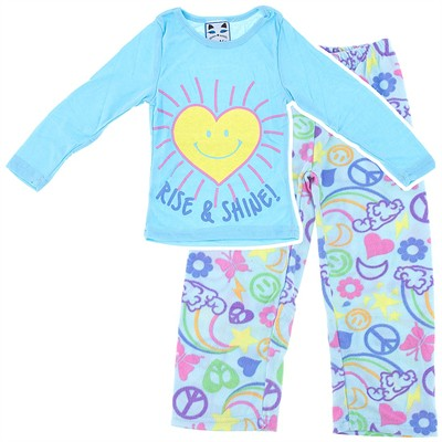 Katnap Rise and Shine Light Blue Pajamas for Girls