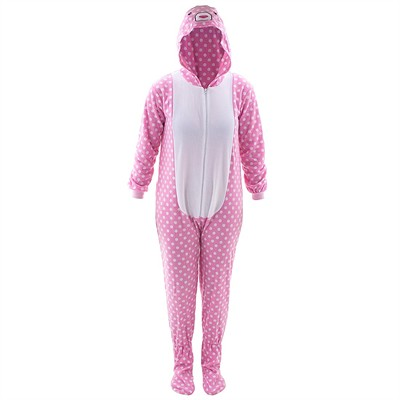 Bunny Hooded Footed Pajamas for Women