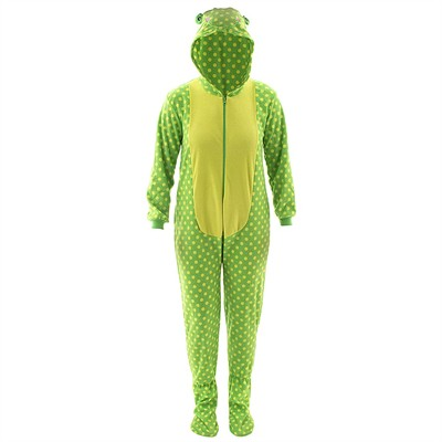 Frog Hooded Footed Pajamas for Women