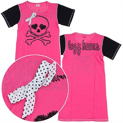 Lazy Bones Pink Nightshirt for Juniors