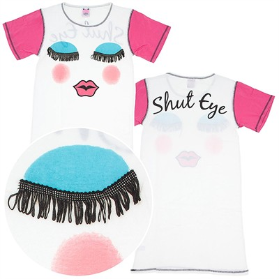 Shut Eye White Nightshirt for Juniors